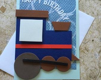 Handmade Train Birthday Card
