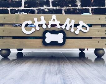 Doggy Toy Box - personalized Pet Storage - Dog Toy Crate - Toy Storage Box - Small Dog Toy Box - Wood Crate - Cat Storage Box -Cat Toy Crate