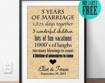 Anniversary Gift, Wedding Anniversary Gift, 5th Wedding, 5 Years of Marriage, 5th Anniversary, Personalized Gift, Parents Gift, CM08