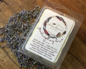 Lavender Chamomile Wax Melts - Soy Melts with Essential Oils  - Wax Tarts - Soy Tarts - Home Fragrance - Aromatherapy - Natural Soy