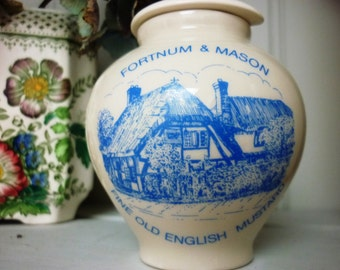 Fortnum Mason Vintage Ceramic Fine Old English Mustard Honey Pot with lid