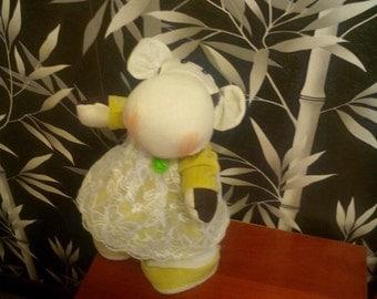 textile dolls, present, home decoretione, handmade