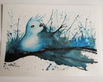 Watercolor bird painting [ORIGINAL ART]
