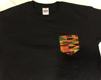 T-shirt w/ kente pocket
