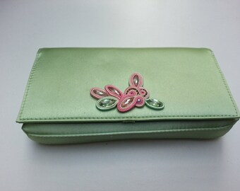 Bulgari vintage clutch with soutache embrodery decoration