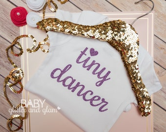 Baby Girl Tiny Dancer Bodysuit, Baby Dance Outfit, Baby Girl Dancer Outfit, Baby Girl Dancing Ballet Tutu, Walk, Crawl Dance