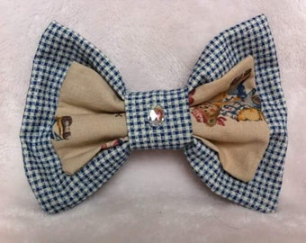 checkered teddy bear bow