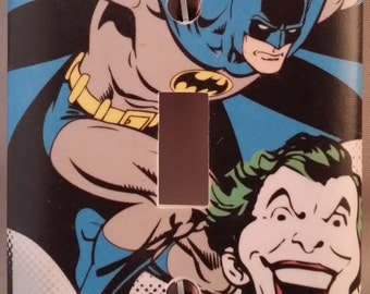 Batman And Joker Switchplate