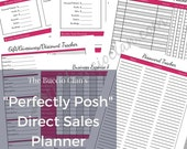 Perfectly Posh - Direct Sales Planner - Letter Size - Home Business - Direct Sales - Small Business - Printable Planner - Work at Home