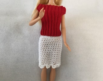Barbie Doll Skirt and Sweater