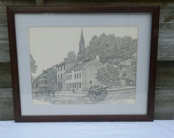 Harpers Ferry West Virginia signed print by Martin Barry