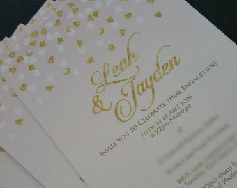 Printable Glitter Invitation | Special Occasion | Invitation | Custom Invitation | Digital | Invite | Personal Design | Event Invitation
