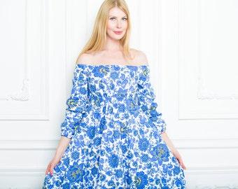 """Dress """"Gzhel"""""""