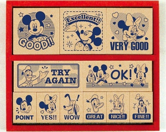 """Stamp""""Disney Mickey Wooden Stamp Set""""SDH-078"""
