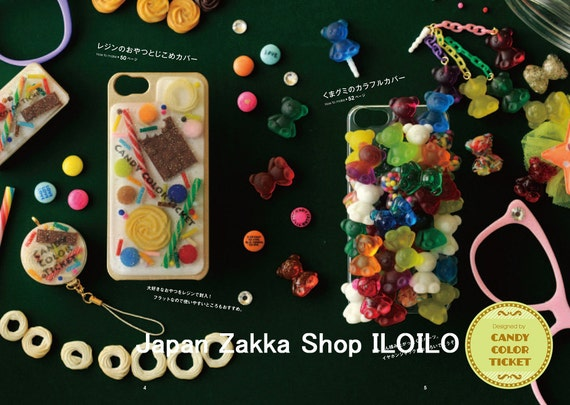 How To Make A Japanese Book Cover : Japanese resin handicraft book quot sweets deco smartphone