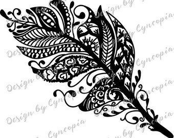Feather zendoodle plot