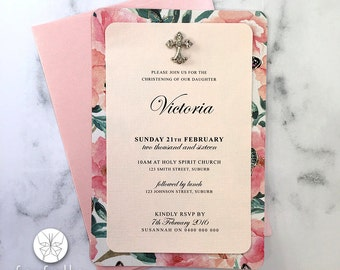 Christening Invitation // Timeless Butterfly // 125 x 185mm
