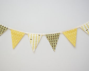 Geo Lime Pennant Banner