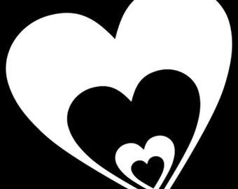 Multiple Hearts Vinyl Decal