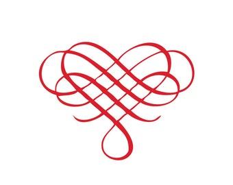 Knot Heart Vinyl Decal