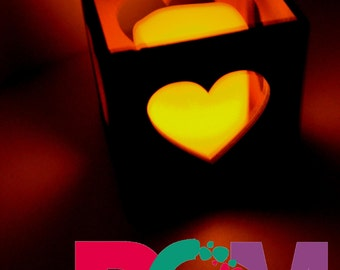 """Wooden candle holder """"Heart"""""""