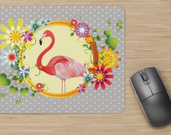 mouse pads, pink Flamingo, flamingo, home décor, office, gift idea, for him, for she