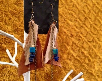 Leather Primal Earrings