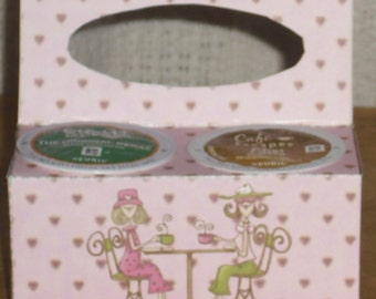 Pink Friends Having Coffee K-Cup Gift Holder, Coffee, Keurig, Coffee With A Friend ~ Birthday Gift or Just Because