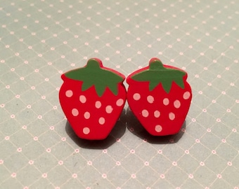 Strawberry Earrings - 1pair