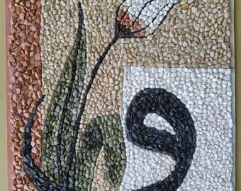 MOSAIC ART with natural stones and pebbles – Magic symbol
