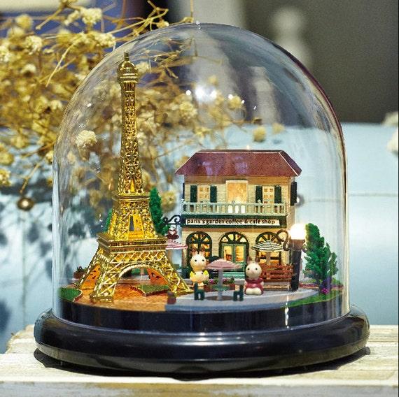 doll house kit glass house miniature the romantic paris from cnyworkshop on etsy studio. Black Bedroom Furniture Sets. Home Design Ideas