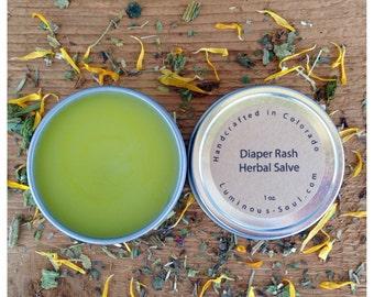 Diaper Rash Herbal Salve 1 oz Dry Chaffy Skin Salve