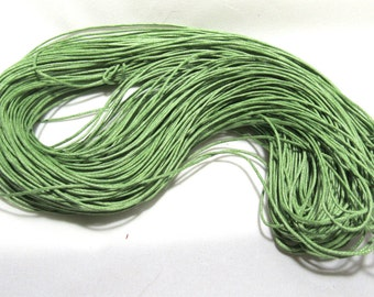 80M Green Waxed Cotton Necklace Cord 1mm (B59f)