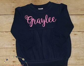 Girls Long Sleeve Bubble Sweatshirt