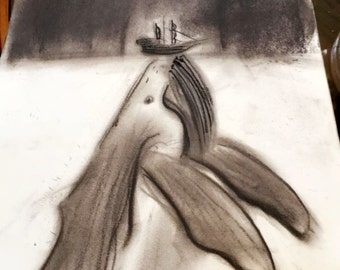 Charcoal whale