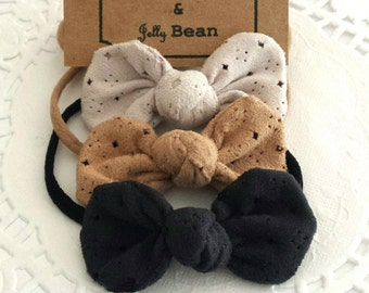 Suede Fabric Bubble Bow