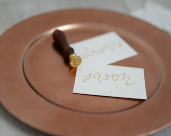Personalized escort cards, place cards, table cards, A set of 10, 10 PCs, free shipping, free shipping