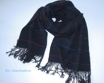 Silk hand woven scarf cashmere silk merino wool scarf