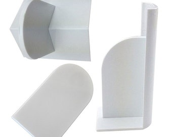 Plastic Fondant Policher Smoother 3pc Set Gum Paste Flattener