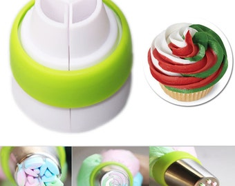 1pc Tri-Color Coupler For XXL Pastry Tips Icing Nozzles Tubes