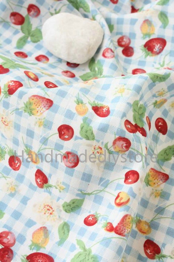 Baby clothes fabric wholesale strawberry and check print for Wholesale baby fabric