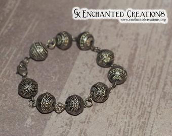 Aztec Brown/Gold Beaded Bracelet