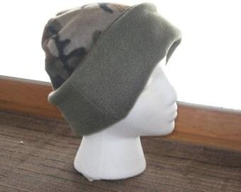 Fleece Reversible Camouflage Hat