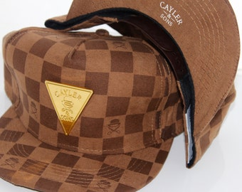 CAYLER & SONS | Brown Checked Snapback Hat