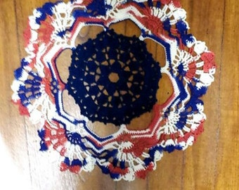 Red, White, and Blue Doily