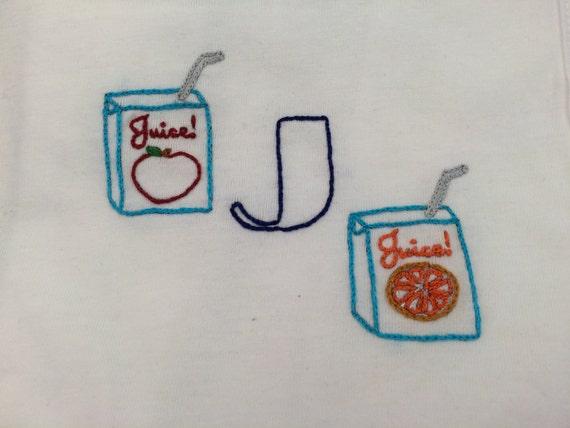 Baby bib embroidery kit diy monogram shower gift