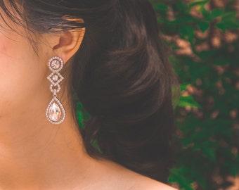 Chic Bridal Earrings, Bridesmaid Earrings, Rhinestone Earrings, Wedding Earrings, Bridesmaid Gift, Wedding Jewelry, Anniversary Gift