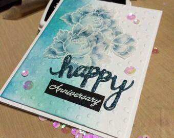 Handmade Card, Stamped Card, Handmade Anniversary Card, Handmade Custom Card, Altenew Card, Handmade Versatile Card