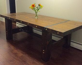 Handmade 8' Industrial Farmhouse Table!