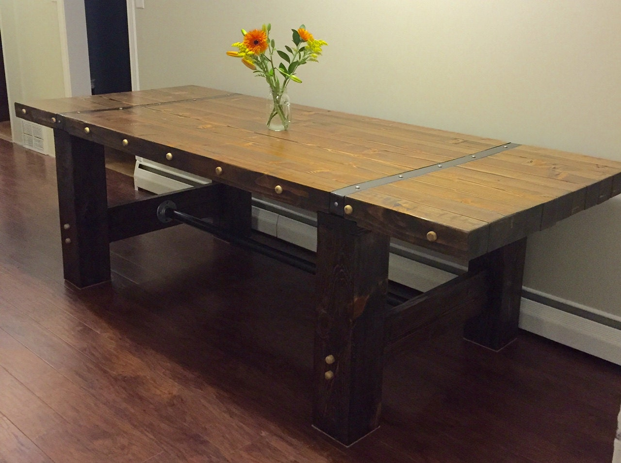 handmade farm table handmade 8 industrial farmhouse table 7243